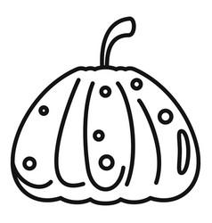 Dark pumpkin icon outline style vector