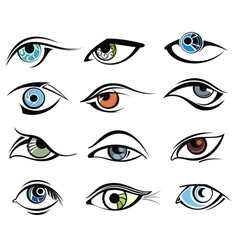 Eye designs vector