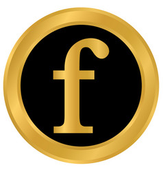 F letter icon on white vector