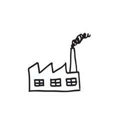 factory with chimney vector image