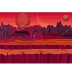 Fairy game Sci-fi Alien Landscape Nature on vector image