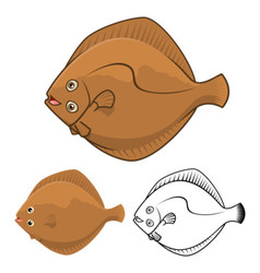 Flat Fish vector image