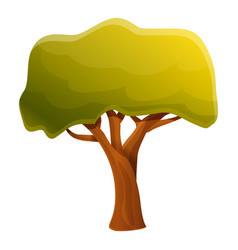 Forest tree icon cartoon style vector