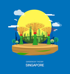 Gardens by the bay singapore garden city vector