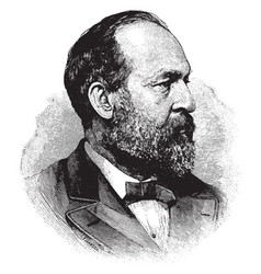 General james abram garfield vintage vector
