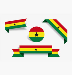 Ghanayan flag stickers and labels vector