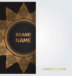 Gold vintage greeting card on a black background vector