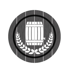 Grayscale beer related emblem icon image vector