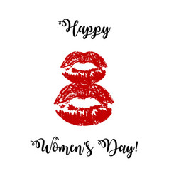 greeting card for march 8 international women s vector image