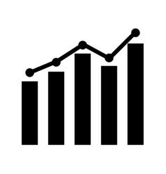 growth bar chart icon vector image