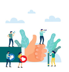 Hand thumb up i like it concept vector