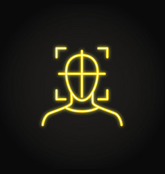 head movement tracking icon in neon style vector image