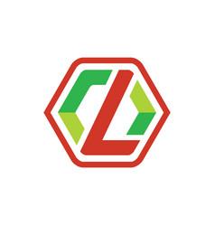 Hexagon abstract logo design vector