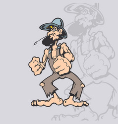 homeless cartoon character cartoon character vector image