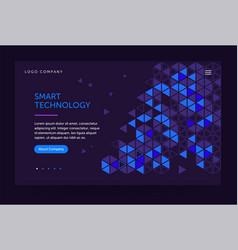 homepage template header for website and mobile vector image