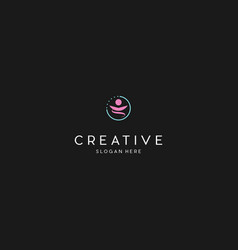 Human people creative business logo design vector
