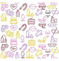 Intim or Sex Shop Background vector image