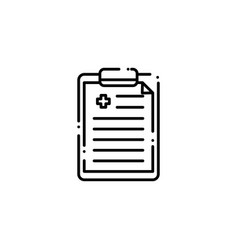 Isolated medical history icon line design vector