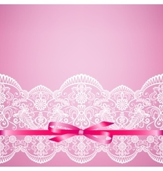 lace on pink background vector image vector image
