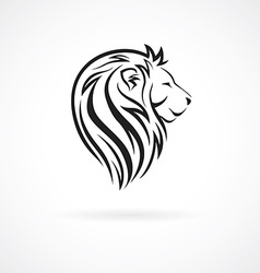 Lion head logo design template concept icon for vector image