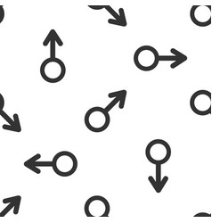 male gender symbol icon seamless pattern vector image