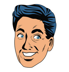 man face pop art cartoon vector image