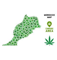 Marijuana mosaic morocco map vector