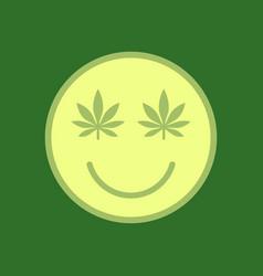 Marijuana smiley face cannabis smile smiling vector