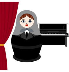 musician piano vector image