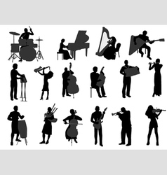 musicians vector image vector image