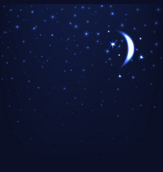 night starry sky blue space background vector image