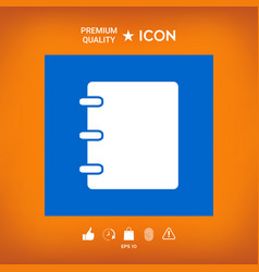 Notebook address phone book icon with blank vector