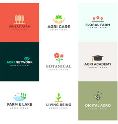 Pack agriculture logo vector