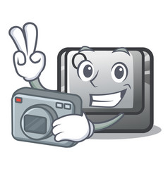 photographer button q in character shape vector image