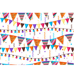 Seamless pattern with garland flags vector
