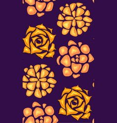 Seamless texture with succulents cut out of paper vector