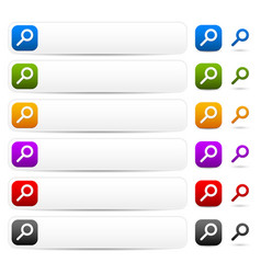 Search bars buttons and symbols vector
