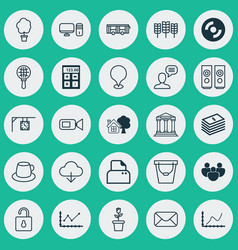 Set 25 universal editable icons can be used vector