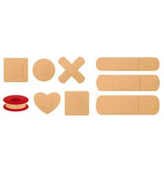 set medical band plaster or first aid medical vector image