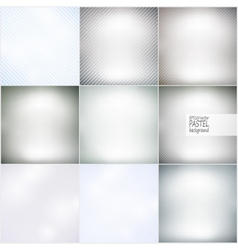 Set of diagonal repeat straight stripes textures vector image