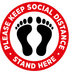Social distancing signage or floor sticker vector