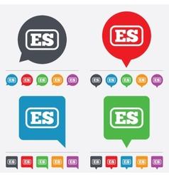 Spanish language sign icon ES translation vector