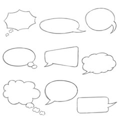 speech bubbles icons set various shape vector image