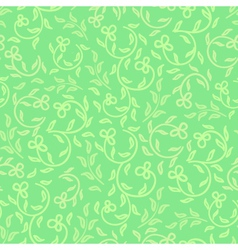 spring greens and flowers seamless pattern vector image