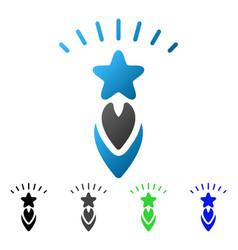 Starting star flat gradient icon vector