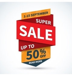 Super sale banner Discount label Shopping badge vector image