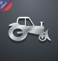 Tractor icon symbol 3D style Trendy modern design vector image