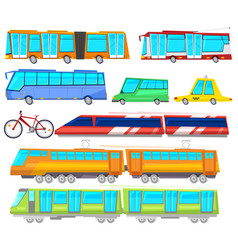 transport public bus or train transported vector image