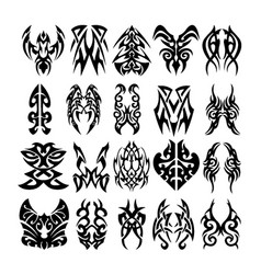 tribal tattoo designs and patterns vector image