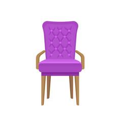 Velvet armchair living room furniture interior vector